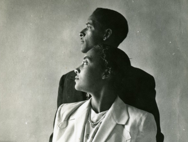Profile Portrait of a Young Man and Woman, Both Students at Storer College