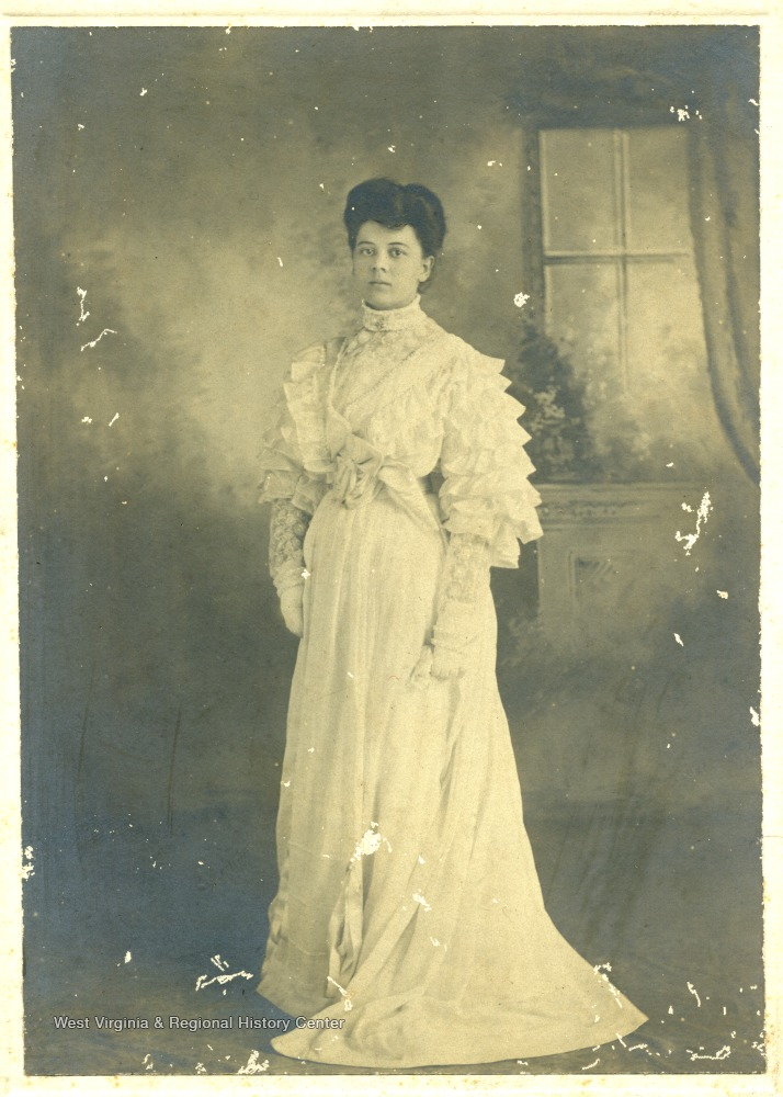Portrait of African-American student Mary V. Wills-Livingstone.