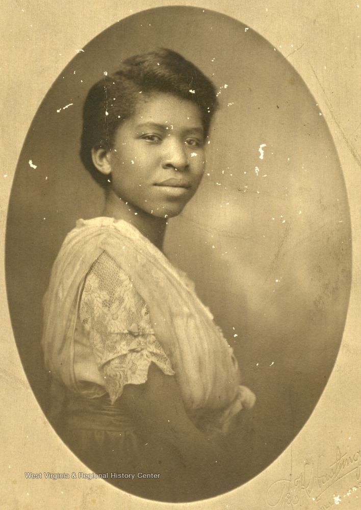 Portrait of African-American student, Julia Allston.