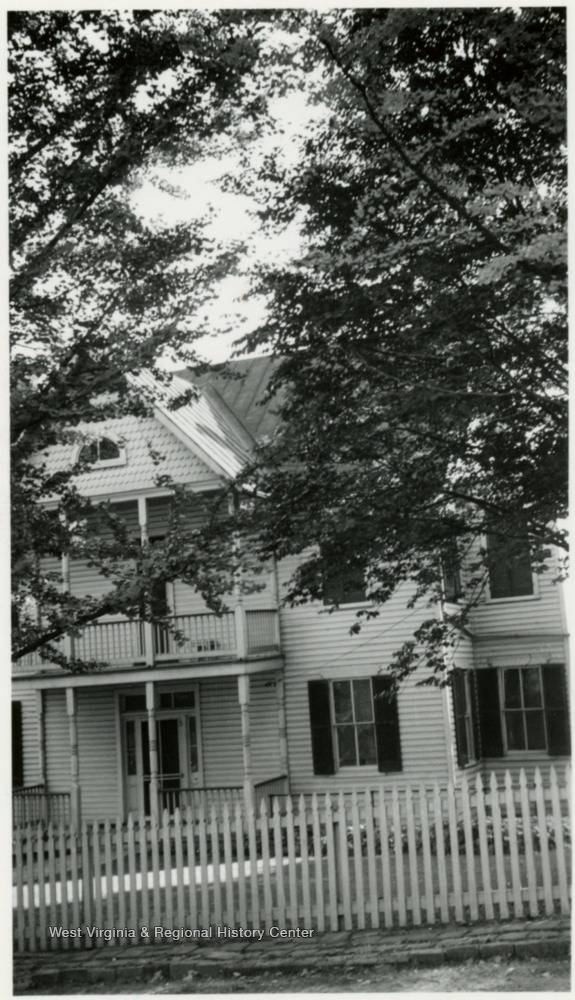 'Front of house, facing North.'