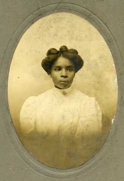 Portrait of Louise V. Hicks, an African-American student at Storer College.
