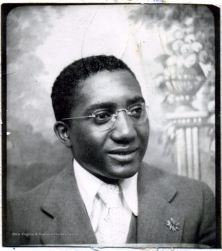 Portrait of African-American Teacher at Storer College from about 1938 to 1940.