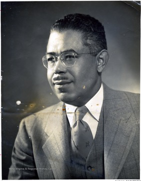 Portrait of African-American faculty member at Storer College.