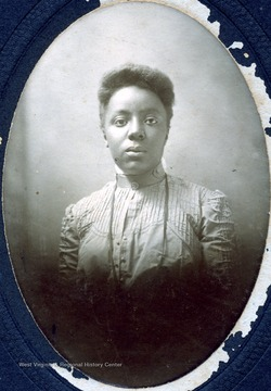 Portrait of a female African-American student from Storer College.