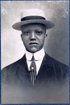 Portrait of a male African-American student from Storer College.