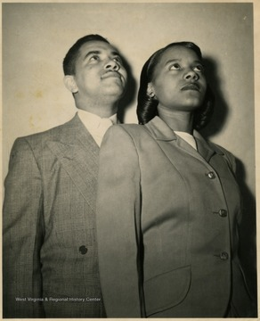 Male and female students posed for a portrait.