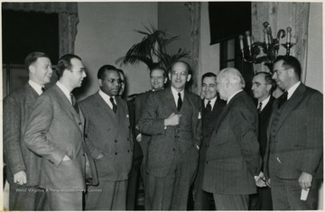 Richard McKinney, first African-American President at Storer College, stands third from left.
