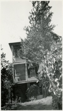 'East end of house facing gap.'
